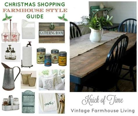 holiday shopping guide farmhouse style knick of time beyond the picket fence talk of the town link party