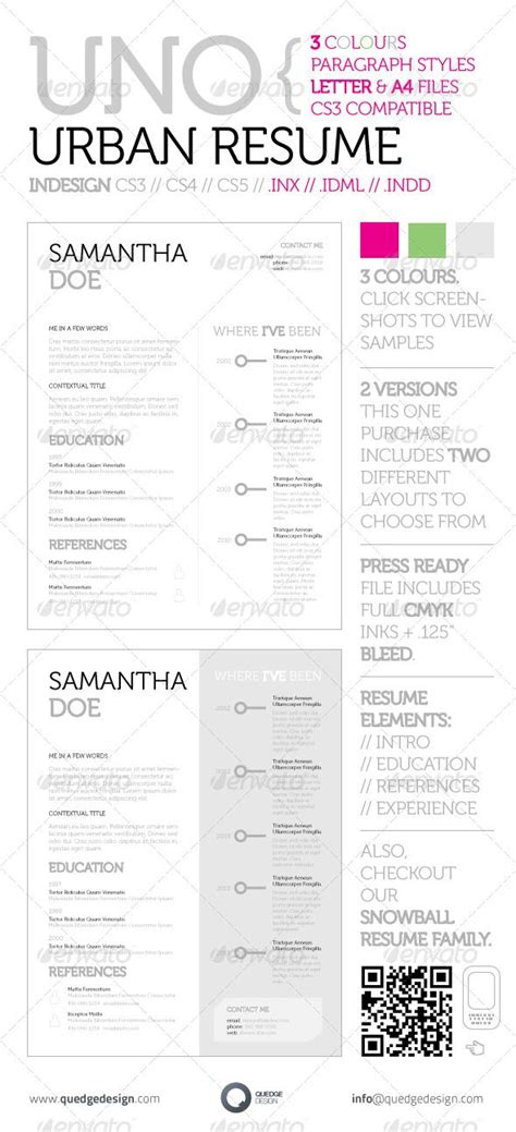 free resume templates indesign cs5 14 best images about resume on font