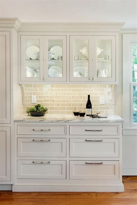 Built In Kitchen Cabinets by 25 Best Ideas About Glass Cabinets On