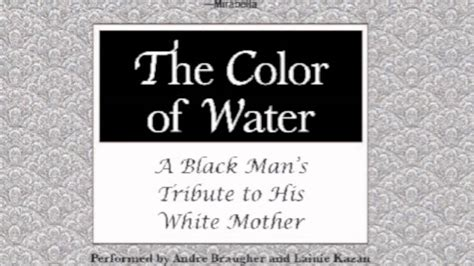 the color of water by mcbride the color of water rap by tjr