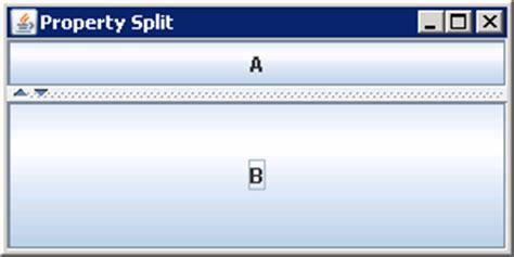 java swing split pane setting orientation jsplitpane vertical split or