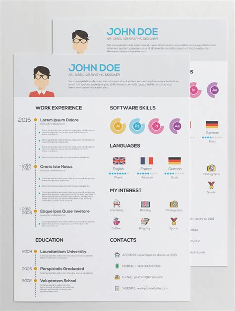 template designer resume templates awesome 13 beautiful graphic