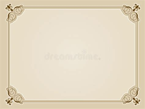 blank certificate background stock vector illustration