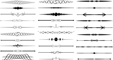 line templates for photoshop vintage clipart divider pencil and in color vintage