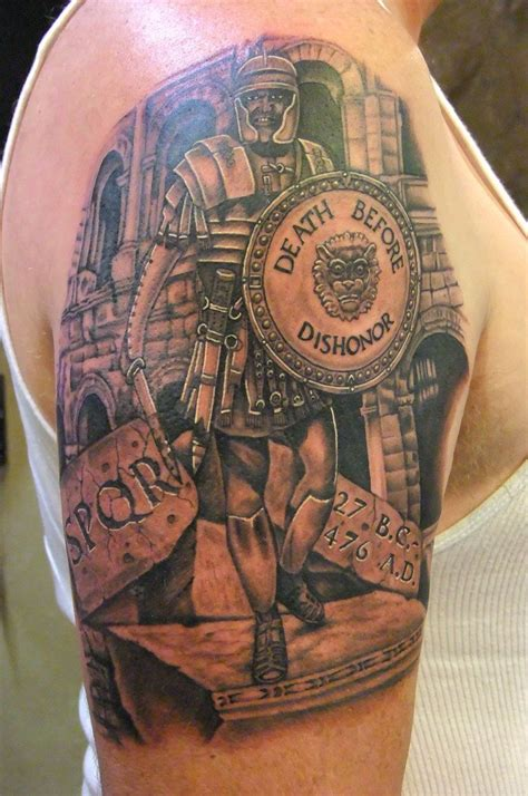 roman cross tattoo soldier not keen on the soldier but like the