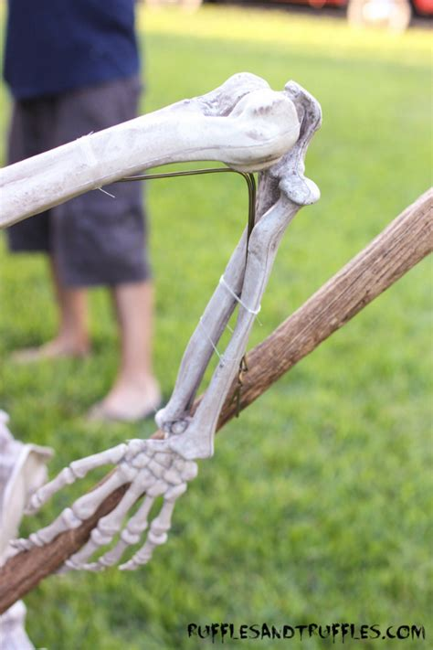 skeleton diy diy skeleton lawn decor for