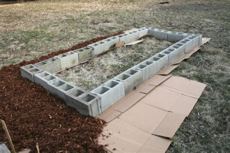 How To Build A Raised Bed With Concrete Blocks   WhatTheCraft