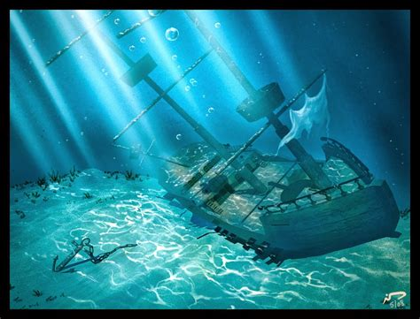 brooke hayes animation sunken ship and treasure chest