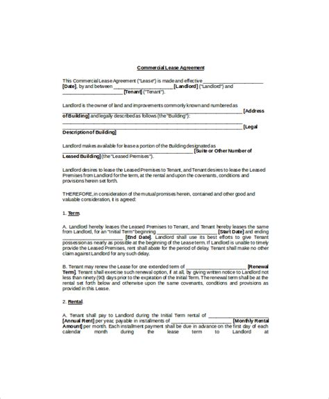 blank lease agreement template seasonal blank rental
