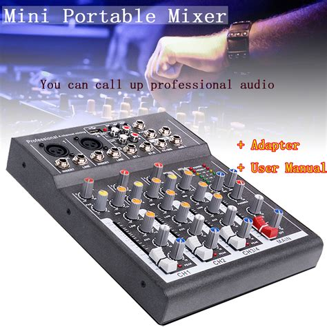Mixer Live 48v professional 4 channel live studio audio sound usb