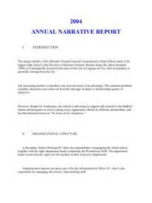 Narative Report Sample Annual Narrative Report A Sample