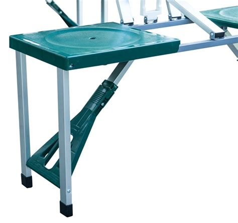 Plastic Folding Picnic Table Outdoor Portable Folding Plastic Garden Cing Picnic Table With 4 Seats Green Ebay