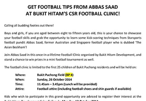 46 Font Hitam bukit puchong football clinic registration form