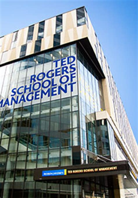 Ryerson Mba Fees by Home Ted Rogers School Of Management Ryerson