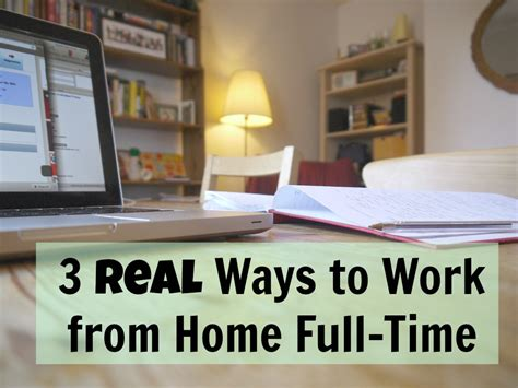 3 real ways to work from home time money