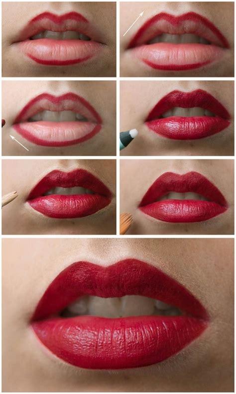 tutorial make up lipstik 18 highlight beauty perfect red lip tutorial 29 lovely