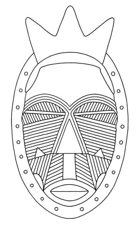 printable african mask template african mask geometric scarification pattern jewellery