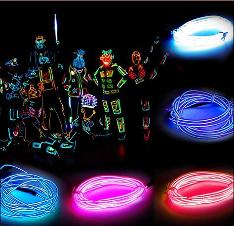 5m 3v neon light glow wire rope cable