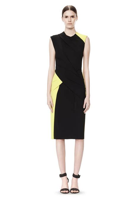 twist drape dress color blocked dress with twist drape short dress