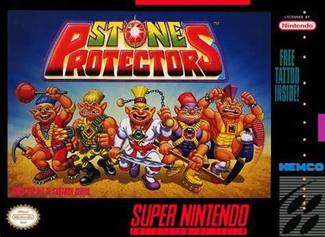 stone protectors snes super nintendo