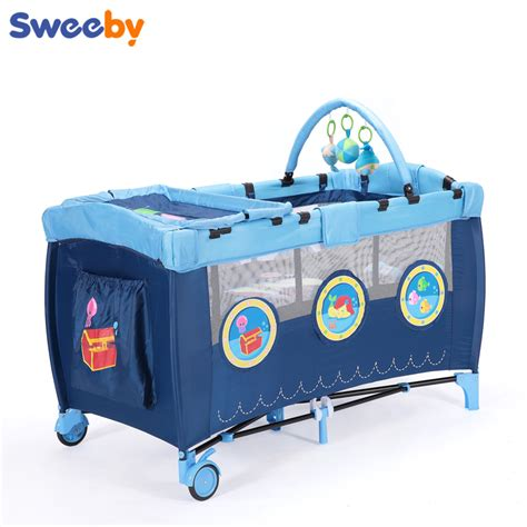 portable infant bed 2016 eco friendly multifunctional folding baby crib infant