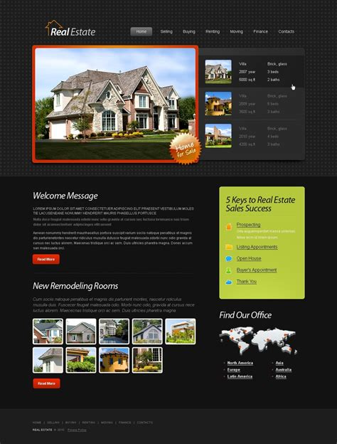 caign monitor html templates free html5 template real estate website