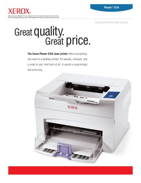 Printer Xerox Phaser 3124 free pdf for xerox phaser 3124 printer manual