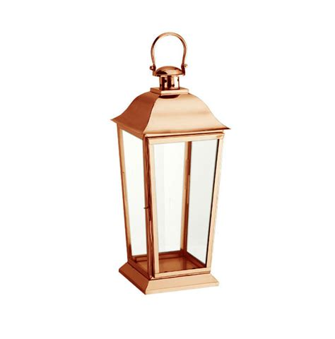parkside copper candle lantern