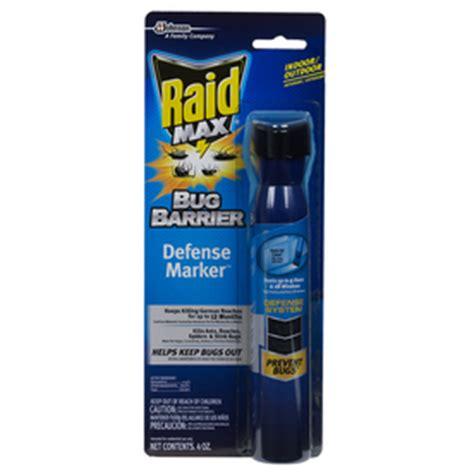 shop raid 4 oz raid max bug barrier defense marker at