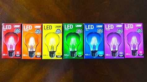 color light bulbs feit colored filament led light bulbs