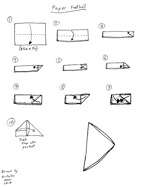 How To Make A Paper Note - a crisp fold schoolyard origami part 2