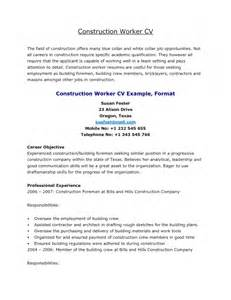 Resume Template Construction Worker by Resume Of A Construction Worker Resume Template Exle
