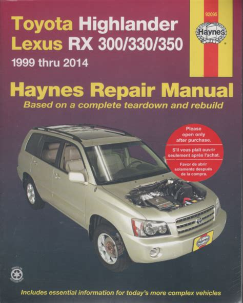 small engine repair manual sagin workshop car manuals repair books information australia toyota highlander kluger lexus rx300 rx330 harrier 1999 2014 sagin workshop car manuals repair
