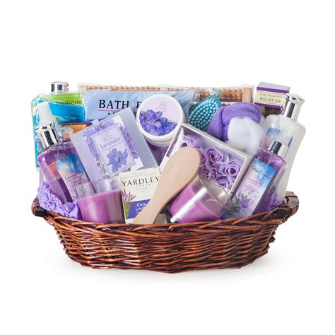 gift basket the essence of lavender spa gift basket gift baskets by