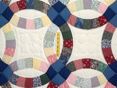 wedding ring quilt splendid ably made amish quilts