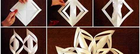 3d Decorations To Make Out Of Paper - diy 3d paper snowflake ornaments beesdiy