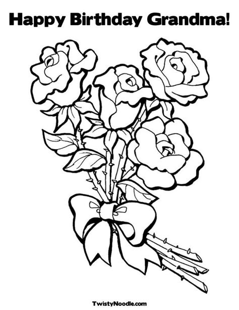 grandmother birthday coloring pages happy birthday grandma coloring page kids korner
