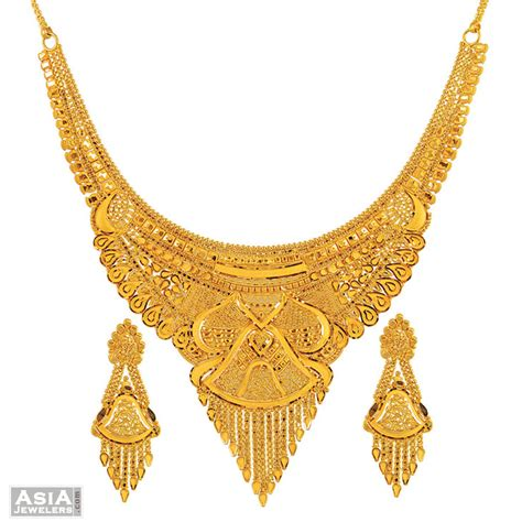 gold necklace set gold jewellery gold