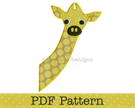 giraffe applique baby giraffe applique template animal diy children pdf