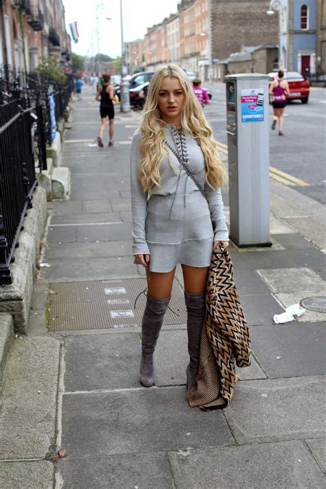 light grey over the knee boots grey over the knee boots