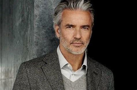 silver fox haircut grey hair turn your greying locks into a silver fox men