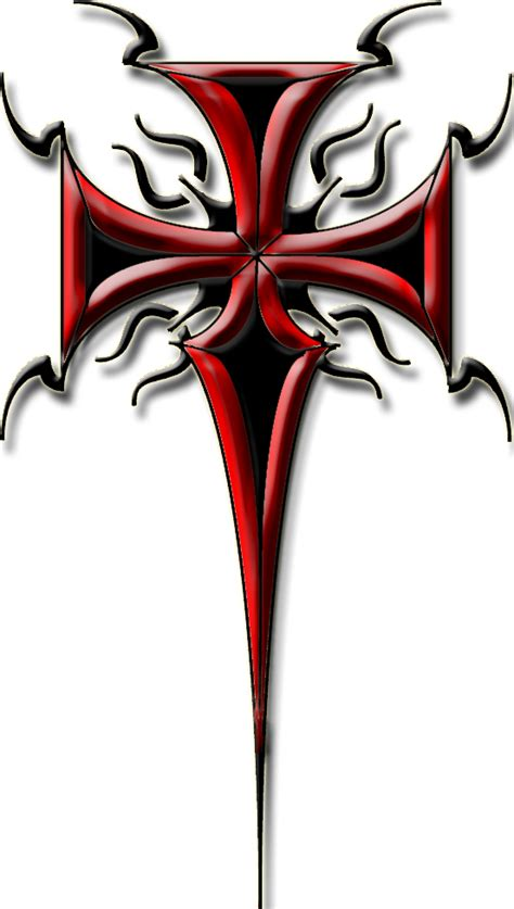 red cross tattoo ink tribal cross design