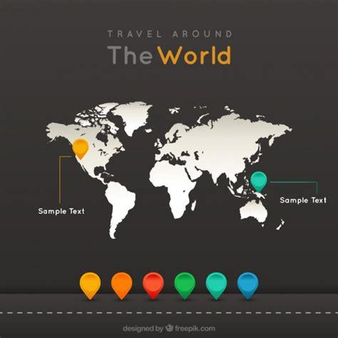 Around The World For Free travel around the world vector free