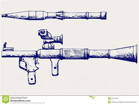 doodle bazooka anti tank rocket propelled grenade launcher rpg 7 stock