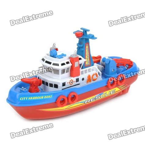 speed boat toy cool speed boat model toy red blue white 3 x aa