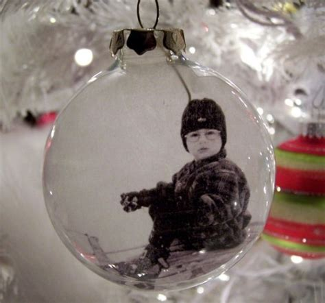 diy photo ornaments glass photo ornament set of 4 personalized