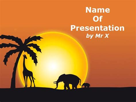 animals powerpoint template 15 powerpoint templates images animals