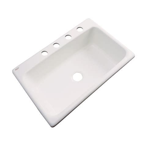 Thermocast Manhattan Drop In Acrylic 33 in. 1 Hole Single
