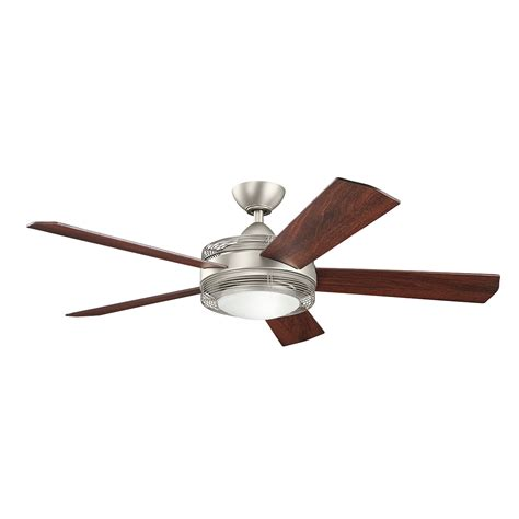 kichler ceiling fans with lights enthrall 60 quot ceiling fan in brushed nickel ni