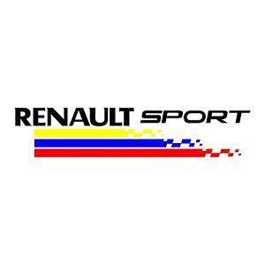 logo renault sport sticker renault sport ref 64 racing tuning autocollant